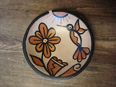 Santo Domingo Kewa Pottery Handmade Hummingbird Bowl by Billy Veale