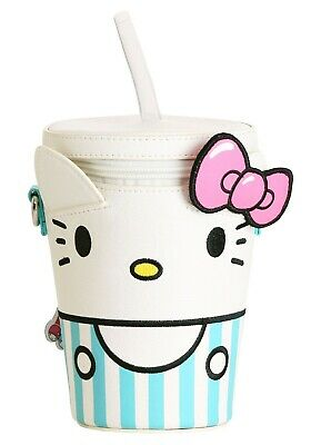 LOUNGEFLY HELLO KITTY MILKSHAKE FAUX LEATHER CROSSBODY BAG (with defect)