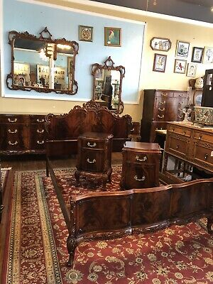 1940'S American French (8) Piece Bedroom Suite  By  Pennsylvania House Furniture