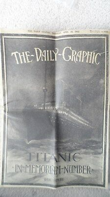 1912 Rms Titanic Memorabilia - Replica Of Daily Graphic Newspaper Published Aft