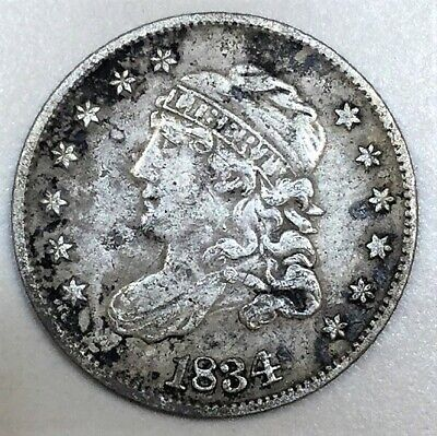 1834 Capped Bust Half Dime Beautiful High Grade Coin Rare Date