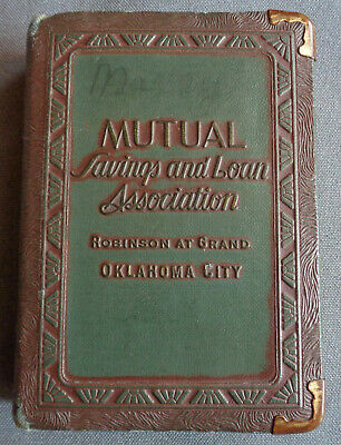 Antique Vintage Bankers Utilities Book Still Coin Bank Mutual S&L Oklahoma City