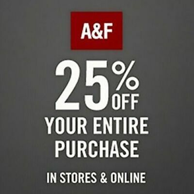 ✔ Abercrombie Coupon code 25% OFF $75- Work- Sale clearance >Seconds Delivery>>>
