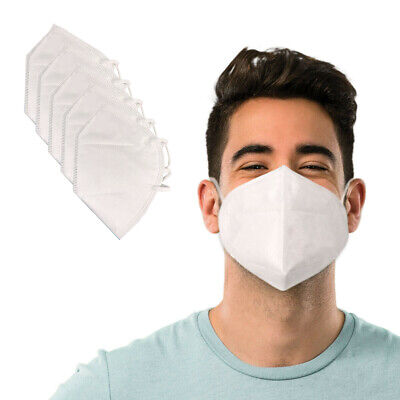 Face mask - Folding Respiratory Protective Mask - 5 Pack