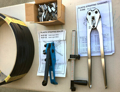 Blue Poly Strapping Tensioner / Cutter Tools, Sealer, Box Sizer, Buckles