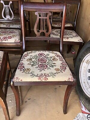 Duncan Phyfe Antique Chairs Set Of 8 Very Good Overall Condition