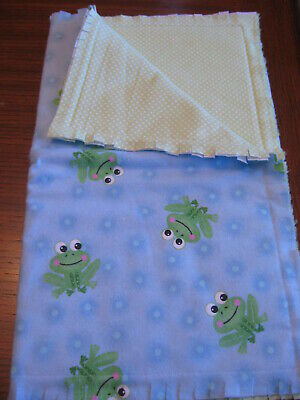 Handcrafted Baby Burp Cloth-Frogs