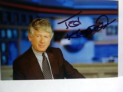 TED KOPPEL Authentic Hand Signed Autograph 4X6 PHOTO JOURNALIST & NIGHTLINE NEWS