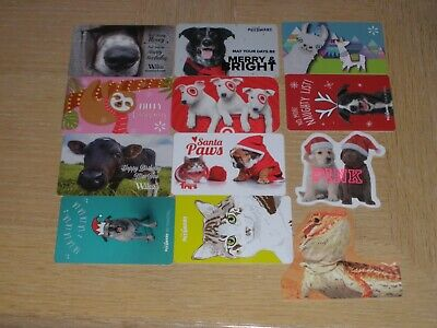 Animals   12 different new and used collectible gift cards