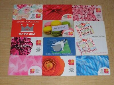 Bealls and Stage   12 different new and used collectible gift cards