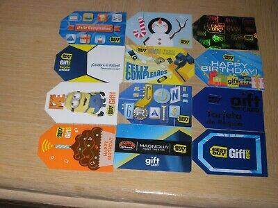 Best Buy   12 different new and used collectible gift cards