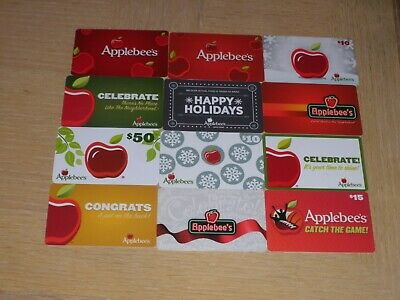 Applebee's   12 different new and used collectible gift cards