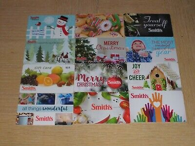 Smith's   12 different new collectible gift cards