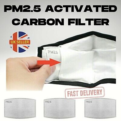 10-50PCS Activated Carbon Filter Replaceable PM2.5 Breath Insert Anti-dust UK