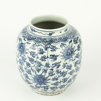 Chinese Antique Blue and White Porcelain Flower Pot