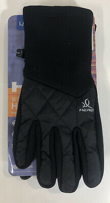 HEAD Touchscreen Hybrid Running Gloves Sensatec WOMENS L Large Black Windproof