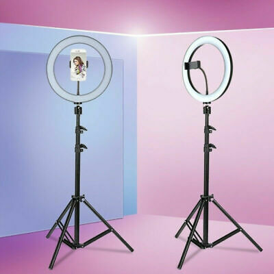 "10"" Studio Live Dimmable Led Ring Light + Tripod Kit for Phone Selfie Photograph"