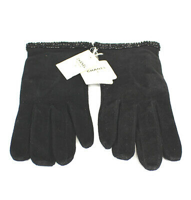 CHANEL Lamb Leather Glove Black #48223 free shipping from Japan