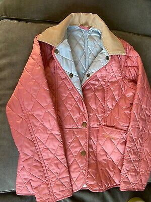 Barbour Girls Pink Quilted Jacket - L