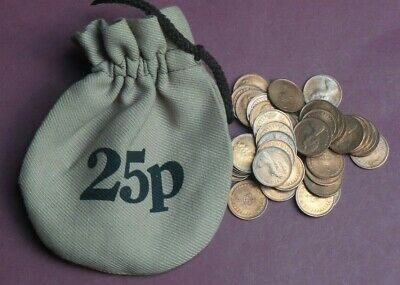 Collection Of Decimal Uncirculated Half Penny Coins In Bag 25P
