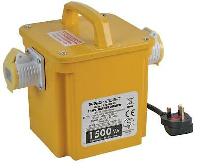 1.5kVA Portable Transformer, 240V/110V Twin Output PRO ELEC - PEL00143