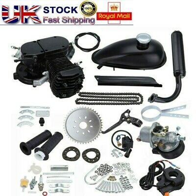 80CC 2-Stroke Petrol Gas Moto Bicycle Kit Motorised Cycle Engine Single Cylinder