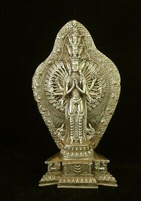 "39cm Very Large Old Chinese Bronze Many Hands and Heads ""GuanYin"" Buddha Statue"