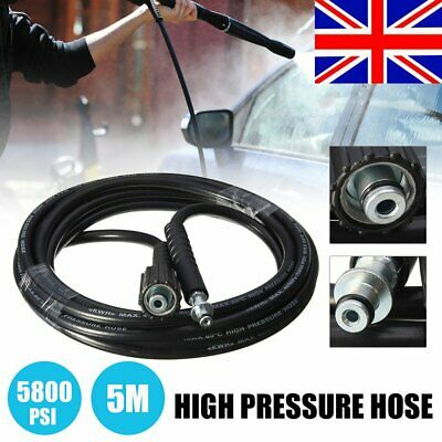 5800psi 5M High Pressure Washer Water Jet Cleaning Hose Pipe For Karcher K2 UK