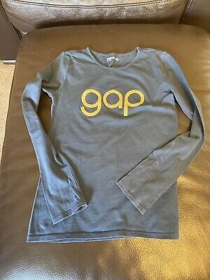 Girls Gap Kids Petrol Blue Long Sleeved Top Aged 10-11 Years