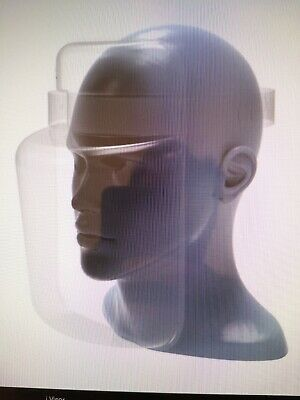 2 x Full Covering PPE Adjustable Face Visor Shield Protection - Made in the UK