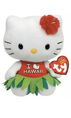 "Ty Beanie Babies Hello Kitty Hawaii Dress 6"" Plush Stuffed Toy"