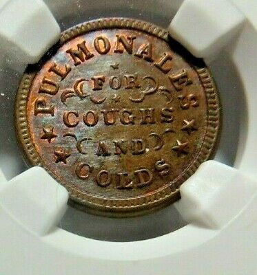 """TIED FOR FINEST ! - BOSTON'S """" PULMONALES """" - 115EA - 1a - NGC MS - 66 - NO RESV"""