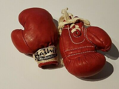 Baily's Glastonbury Miniature Red Leather Boxing Gloves