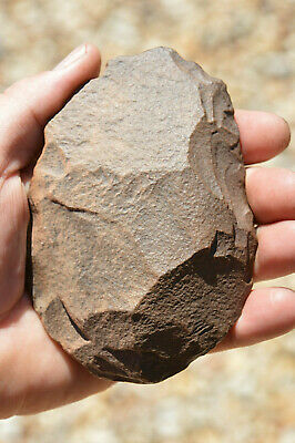 Early Man, Paleolithic hand AXE,120,000 to 700,000 yrs Saharan stone age tool