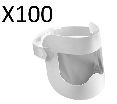 (Pack of 100 ) Disposable Face Visor (Single Use, Easy to Fit & Wear )