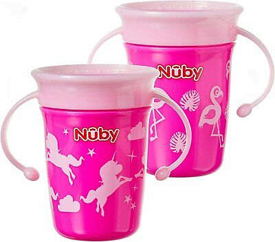 Nuby Sipeez 360 Degree Wonder Mini Cups, Assorted colors, Pack of 2
