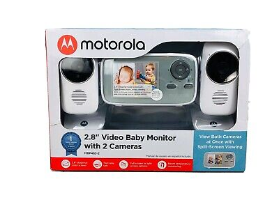 """Motorola MBP483-2 New 2.8"""" Video Baby Monitor with 2 Cameras"""
