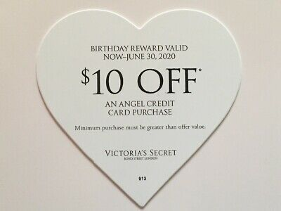Victoria's Secret $10 Off Angel Credit Card Purchase June Birthday Reward Coupon