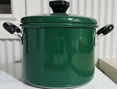 Vintage Kitchen Green Dripping Pot with insert