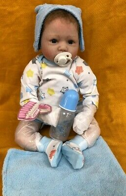 NPK Collection Pinky Reborn Baby Boy Realistic Look Doll With Blanket #AZG