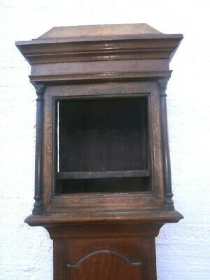 11 inch square oak longcase clock case c1740