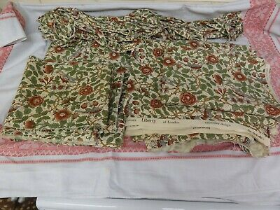 Vintage Liberty Briarwood fabric (lots  of reclaimed fabric)
