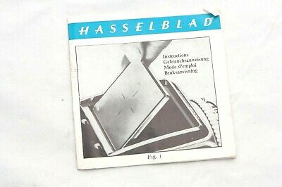 Hasselblad focusing screen instruction booklet