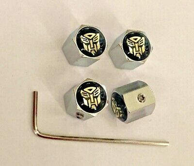 Transformers Autobots Optimus Prime Car Wheel Dust Valve Caps