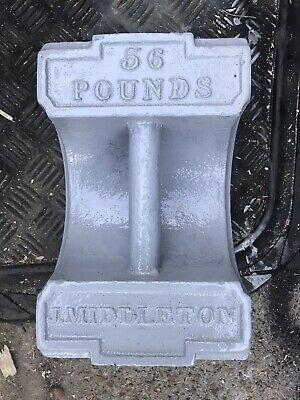 Vintage Antique Cast Iron Weight Very Rare 56lb