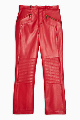 Zara Unisex Contemporary Biker Faux Leather Pu Trend S/10-12 New No Tags