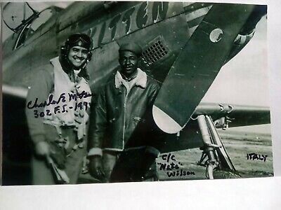 Charles McGee Authentic Hand Signed Autograph 4X6 Photo - TUSKEGEE AIRMEN WW II