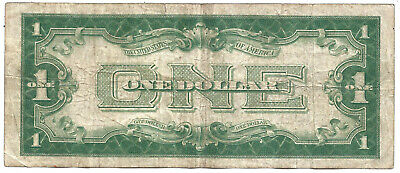 1928A $1 BLUE Seal Silver Certificate! **FUNNY BACK** Old US Paper Money!