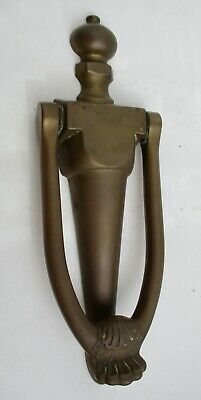Antique Metal Hardware Heavy Door Knocker Solid Brass Vintage 8 Inch Nice Patina