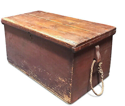 Early 19th C. American Whalers Seaman's or Sailors Sea Chest   Nautical
